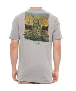 HUK Performance Fishing Gear KScott Crushed L Gray T-Shirt $25 - $23.74
