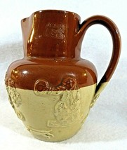 "Royal Doulton Lambeth Pottery 5"" Tall Pitcher , Brown, & Caramel  Marked ""R"" - $26.18"