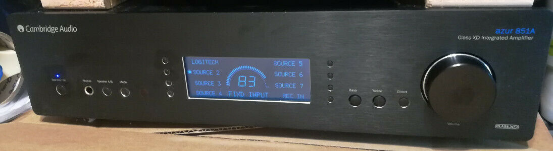 Cambridge Audio Azur 851A Awesome Integrated Amplifier Black Refurbished