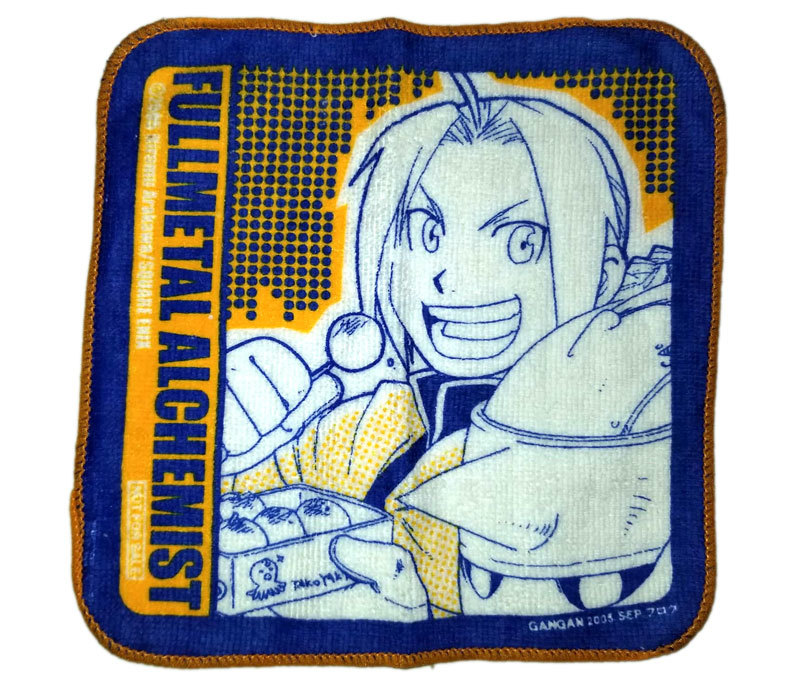 "Fullmetal Alchemist ""Edward & Alphonse Gashapon NFS Anime Square Cloth"