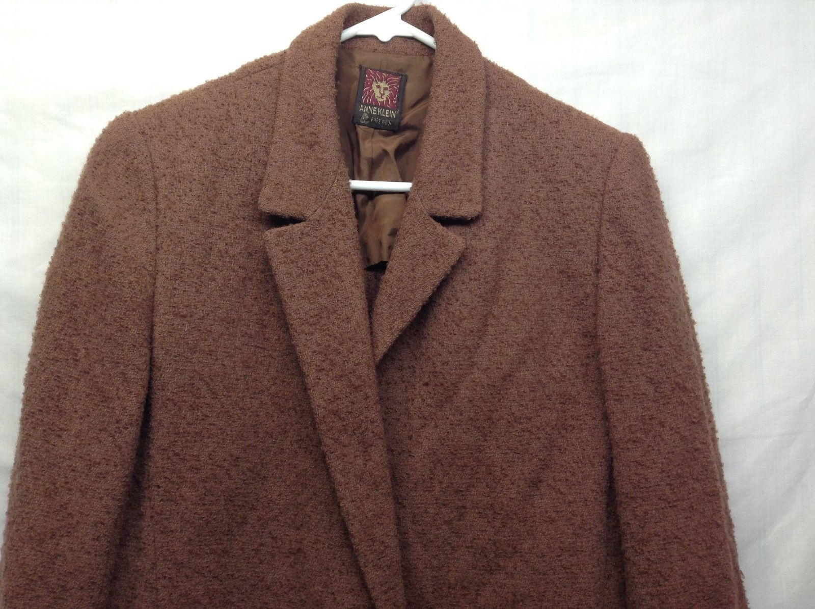 Anne Klein Pure Wool Brown Skirt Suit Sz 6