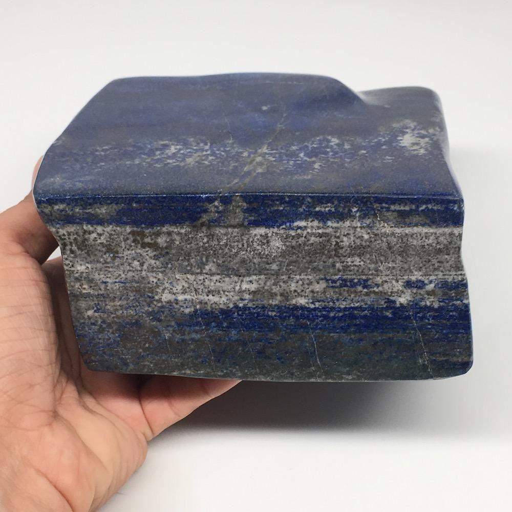 "5.6""x5.4""x2.5"", 3,668g,Natural Polished Freeform Lapis Lazuli @Afghanistan,PL129"