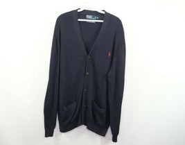 Polo Ralph Lauren Mens XL Long Sleeve Full Button Cardigan Sweater Pima Cotton - $39.55