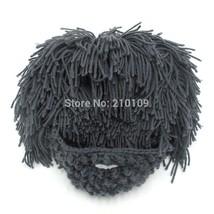 Mr.Kooky Wig Beard Hats Hobo Mad Scientist Caveman Handmade Knit Warm Wi... - $20.38