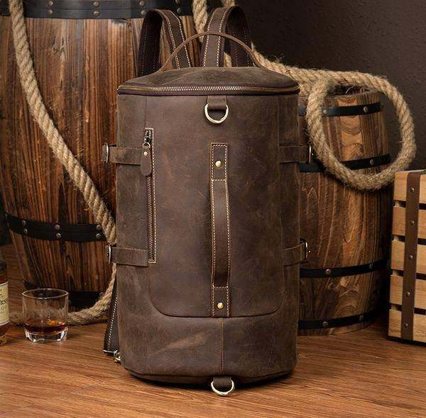 Sale, Vintage Leather Travel Backpack, Shoulder Bag, Designer Backpack image 1