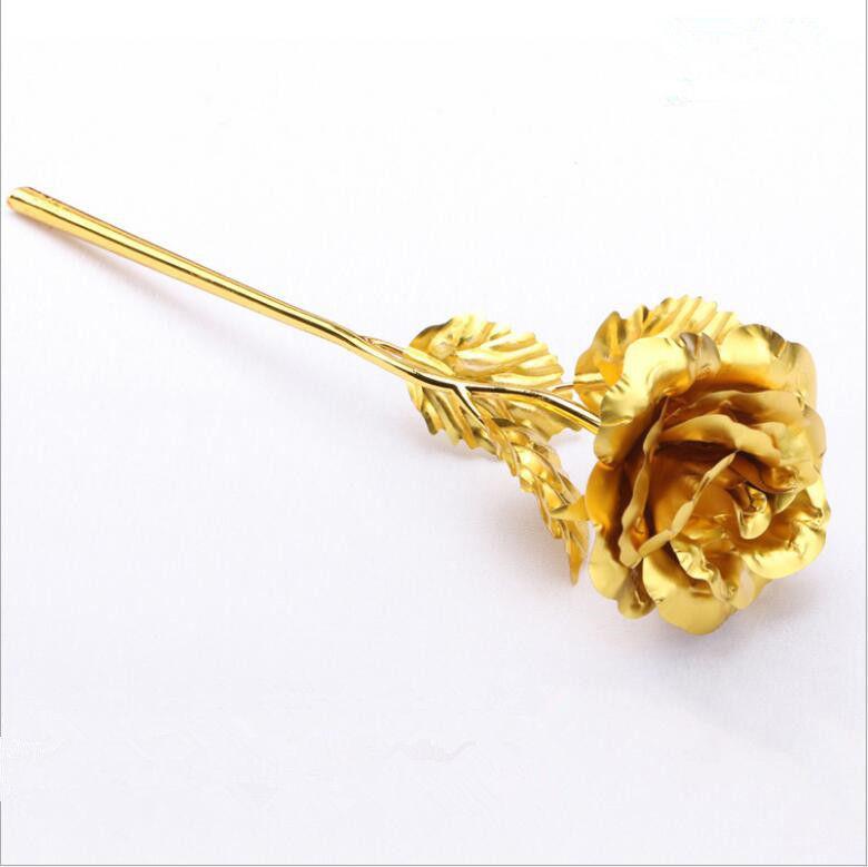 Gold Plated Rose 24k Flower Gift Romantic Valentine S Flowers Wedding Decor