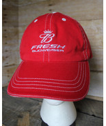 Budweiser Embroidered Hat Red Adjustable Ball Cap Fresh Bud King of Beer... - $19.34