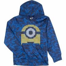 Despicable Me Minion Boys Blue Digi Camo Fleece Pullover Hoodie Sweatshi... - $24.99