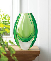 Emerald Art Glass Vase 10017383 - $30.75
