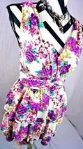 Freeway Dress Size Medium Purple Floral Fringe Boho Anthropologie Womens M - $8.90