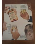 Vintage 1965 Ballantines Scotch Life Magazine Ad - $8.95