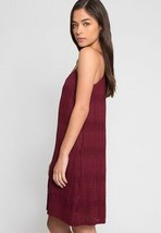 NEW Burgundy LACE Size L DRESS Shift AFTER HOURS V-Neck LINED Chemise SL... - $19.03