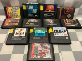 (Lot of 12) Sega Genesis Video Games Mortal Kombat Tiny Toon James Pond ... - $59.39