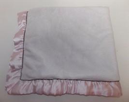 Blankets & Beyond Pink Sherpa Plush Satin Trim Baby Blanket Brown - $24.94 CAD