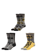 Batman DC Comics 3 Pack Athletic Active Crew Socks Nwt - $19.95