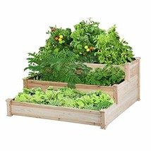 Yaheetech 3 Tier Wooden Raised Garden Bed Elevated Planter Box Kit Outdo... - $66.17