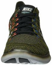 Men's Nike Free RN Flyknit Running Shoes, 831069 301 Sizes 8.5-13 Khaki/Blk/Mang image 2