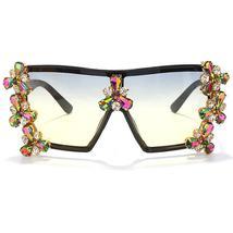 Oversized Colorful Diamond Sunglasses Women Luxury Fashion One Piece Square Sung image 10