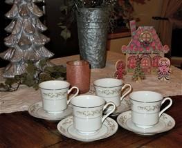 International Silver Fine China 326 Springtime 8pc Tea Cup & Saucer Set Japan - $34.64