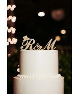 Buythrow® Monogram Cake Topper Initial Couple Name Wedding Decoration Cake - $28.20