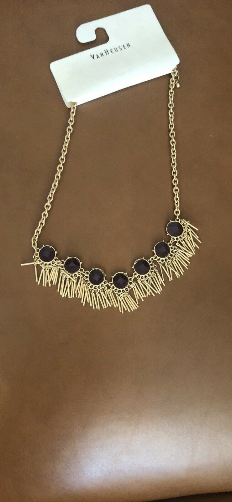 """Van Heusen New With Tags Quality Rhinestone Necklace 9"""" Long. image 7"""