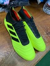 adidas predator 18.1 SOFT GROUND Neon Black Leather Soccer Cleats Size 1... - $160.38