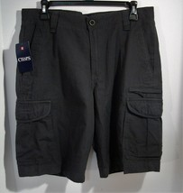 Chaps Cargo Textured Shorts Mechanic Grey Size 32 Inseam 10.5 NEW! - $22.95