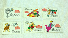 New Zealand 1991 Flintstones Stickers Set Cobb & Co Restaurants Hanna Ba... - $29.02