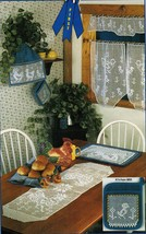 Rooster Hen Chicks Table Runner Tea Place Mats Cozy Potholders Crochet Patterns - $11.99