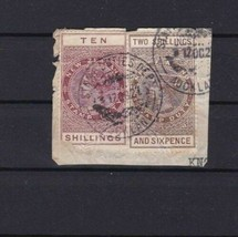NEW ZEALAND STAMP DUTY FISCAL REVENUE STAMP TEN SHILLINGS    REF 5884 - $11.77
