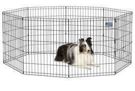 "Pet home safe smart decor gate 8 PNL metal 24x 30"" dog cat rabbit indoor... - $53.45"