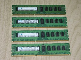 Samsung 16GB 4x 4GB DDR3-1333 PC3L-10600R ECC Memory M393B5273CH0-YH9