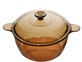 Corning Pyrex Vision Amber Glass 4.5L 5Q Stockpot Dutch Oven Stew Stove Top Pot - $89.99