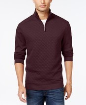 Tasso Elba Mens Sweater Sz S Port Heather Half-Zip Pullover Sweater  - $690,72 MXN