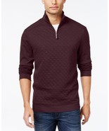 Tasso Elba Mens Sweater Sz S Port Heather Half-Zip Pullover Sweater  - £26.78 GBP