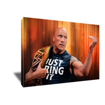 WWF WWE Dwayne Johnson THE ROCK Poster Photo Painting on CANVAS Wall Art... - $33.75+