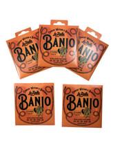 La Bella Banjo Strings 5-Pack No. 17 Nylon & Silver Plated Wound Plain E... - $33.06
