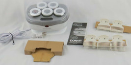 Hair Rollers Conair Heated Jumbo Rollers 5 Flocked Rollers with Super Clips - $9.89