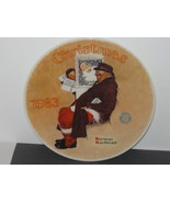 """NORMAN ROCKWELLS PLATE """"SANTA IN THE SUNWAY"""". 10 TH IN AN ANNUAL SERIES. - $12.00"""