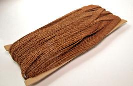"Vintage NOS 65 Feet of  .30""  Brown Fabric Trim - $12.82"