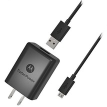 Motorola SPN5970A TurboPower 15+ QC3.0 Wall Charger with SKN6461A Micro ... - $19.99