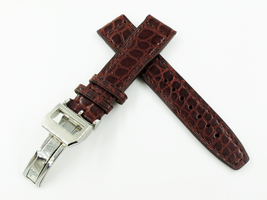 20mm Brown Alligator Crocodile Leather Watch Band Strap for IWC or Any W... - $76.99