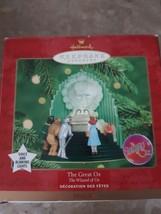Hallmark Wizard of Oz The Great Oz Keepsake Ornament Voice and Blinking ... - $29.65