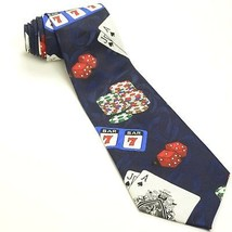 Las Vegas Tie | Gambling Cards Poker Dice Necktie - €35,05 EUR