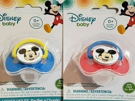 2x Mickey Mouse Lot 2 New Package Disney Baby Pacifier Chupon BPA Free R... - $10.78