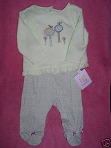 NWT Absorba 2 PC Pastel Green Cute Winter outfit 6 MOS - $16.00