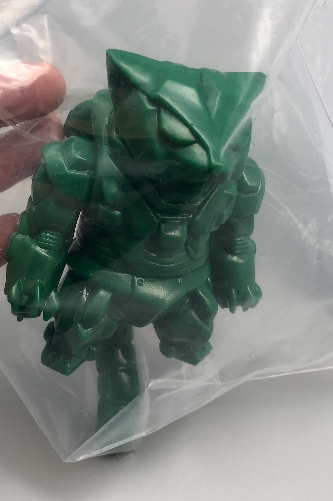 Max Toy Deep Green Unpainted Mecha Nekoron MK-III RARE Mint in Bag