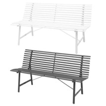 vidaXL Garden Bench Steel Outdoor Park Seat Chair Furniture Anthracite/W... - $127.99+