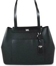 Michael Kors  Black Meredith East West Tote Leather Handbag Purse  NWT - $107.91