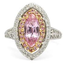 Barry Kronen 18 Karat Gold Pink Sapphire Diamond Statement Ring - $6,459.75